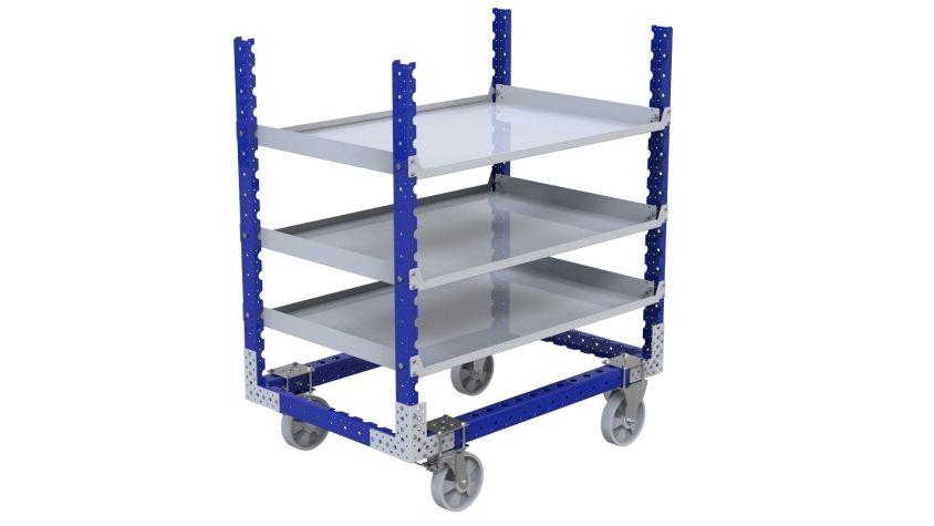 Q-100-2645 Flat Shelf Cart - 840 x 1260 mm