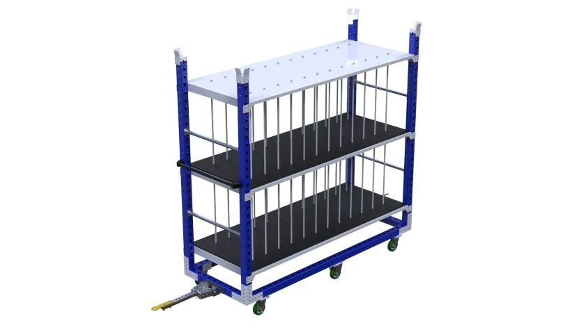 Q-100-2719 Shelf Cart - 840 x 2240 mm