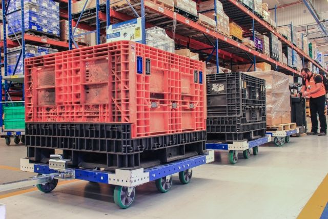 How To Increase Productivity Using Tugger Carts for Material Handling