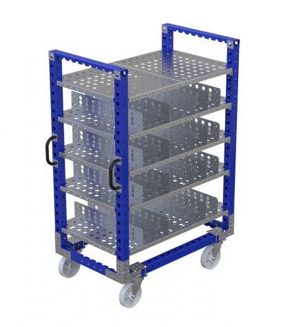 Shelf Cart W Dividers - 1260 x 770 mm