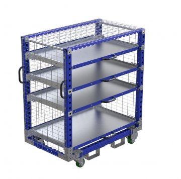 Extendable shelf cart 1400 x 840 mm