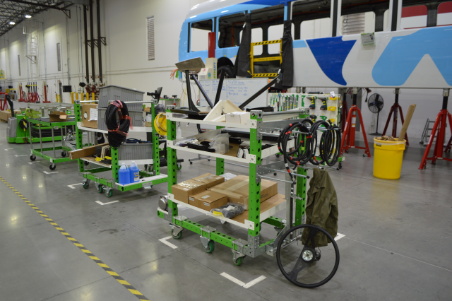 FlexQube created what Proterra needed — a flexible fleet of material handling carts.