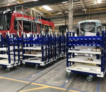 The 4 Benefits of Shelf Carts in a Lean Manufacturing System