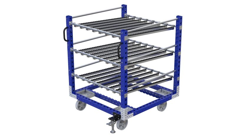 Q-100-2382 Flow Rack Cart - 1260 x 1260 mm