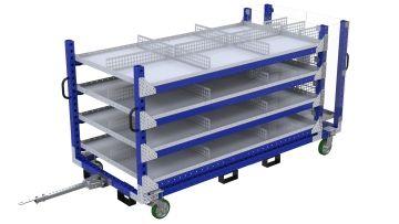 Q-100-2316 Shelf Cart - 1260 x 2870 mm