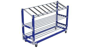 Q-100-2348 Shelf Cart - 770 x 2450 mm