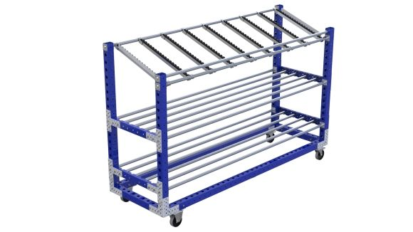 Q-100-2348 Shelf Cart - 770 x 2450 mm