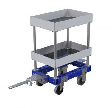 Flat Shelf Tugger Cart - 630 x 420 mm