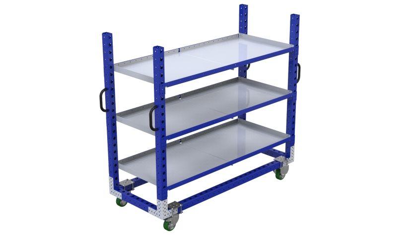 Q-100-2144 Flat Shelf Cart - 770 x 1890 mm