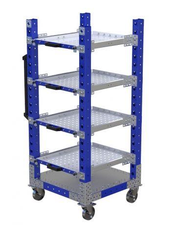 Extendable Shelf Cart - 700 x 700 mm
