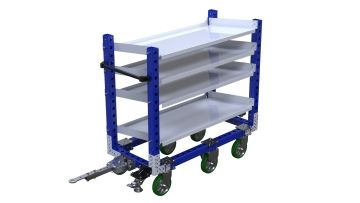 Q-100-2123 Flow Shelf Cart - 630 x 1400 mm