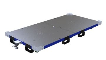 Q-100-2820 Flat Deck Cart - 1260 x 2520 mm