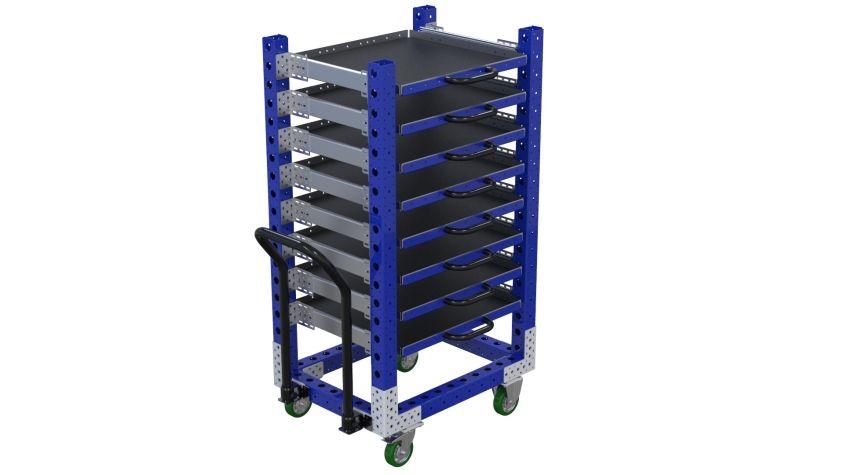Extendable Shelf Cart - 630 x 840 mm
