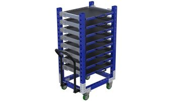 Q-100-2231 Extendable Shelf Cart - 630 x 840 mm