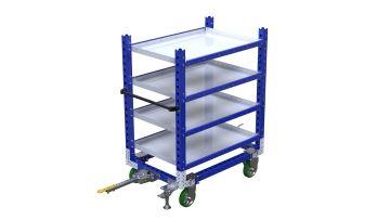 Standard flat shelf cart with tow bar