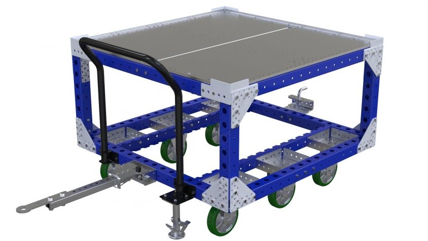 50 x 50 inch two level tugger cart