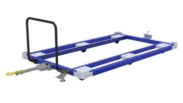 Pallet tugger cart without flat deck designed for transporting pallets and containers. Pallet Tugger Cart - 1470 x 2450 mm Q-100-2559