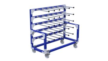 Cart for transportation perfect for kitting hoses or ring shaped components. Q-100-2627 Cart for Transportation - 840 x 1960 mm