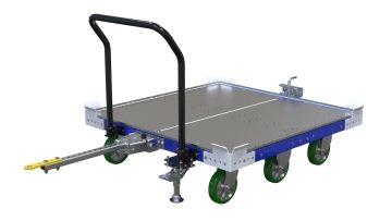 Standard pallet cart for US sized pallets (48 x 45 or 48 x 48 inch). Q-100-2654 Flat Deck Cart - 1260 x 1260 mm