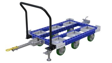 Pallet tugger cart without flat deck for transporting pallets and containers. Q-100-2709 Pallet Tugger Cart - 840 x 1260 mm