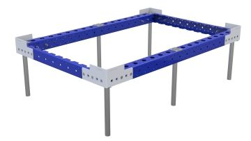 Subframe with top structure designed to fit a euro pallet cart.