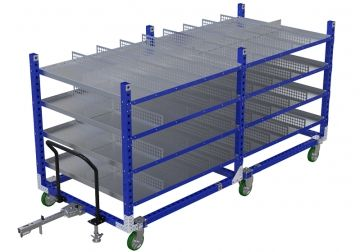 Shelf Cart W. Divider - 1260 x 3430 mm