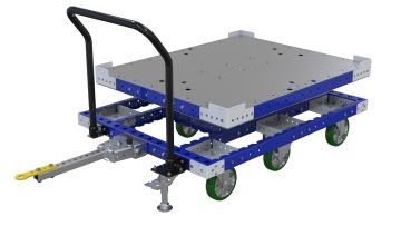 Rotating flat deck cart designed by FlexQube
