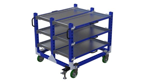 Extendable shelf cart designed by FlexQube