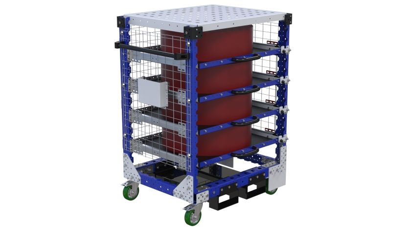 Extendable Shelf Cart - 700 x 910 mm