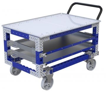 Extendable Shelf Cart - 770 x 1260 mm