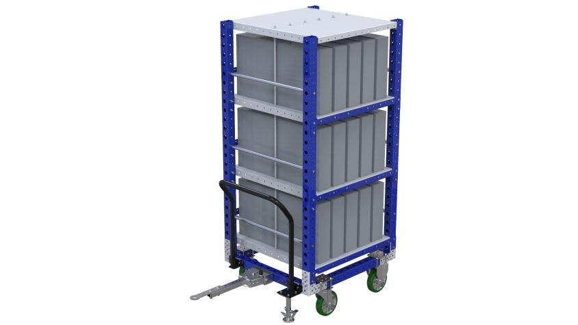 Flat Shelf Cart - 910 x 980 mm