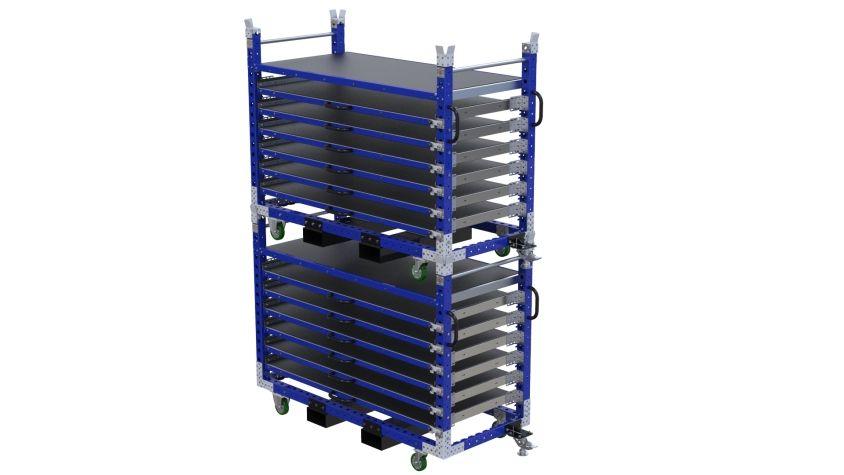 Extendable Shelf Cart - 840 x 1890 mm