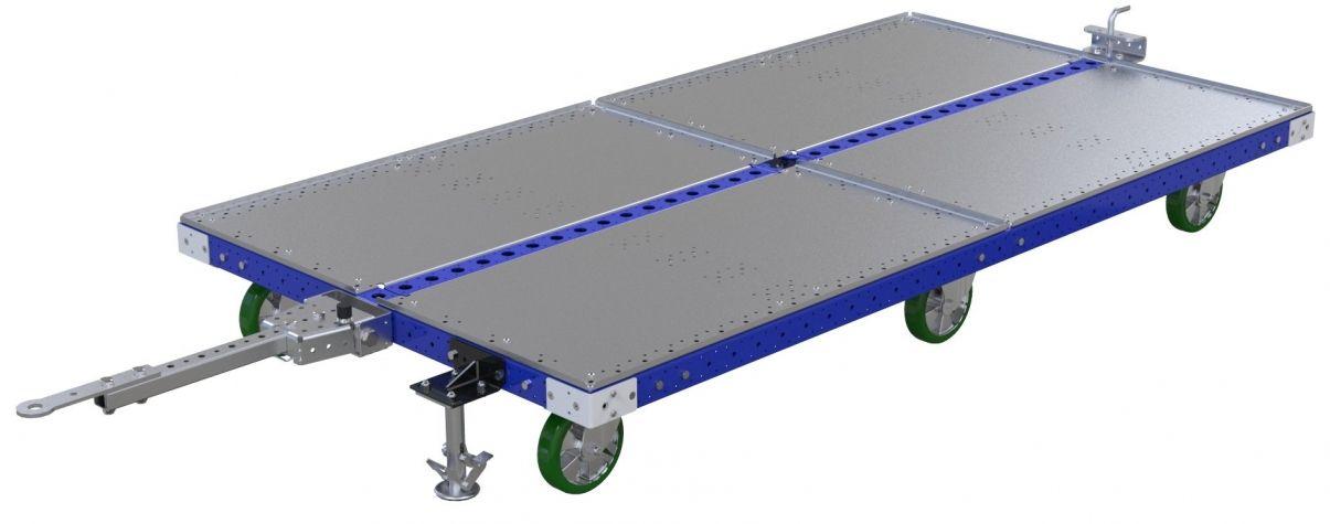 Flat Deck Tugger Cart - 1330 x 2510 mm