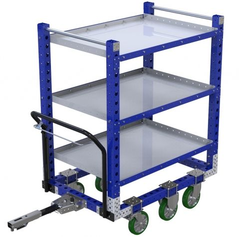 Flat Shelf Cart with Wire Release - 840 x 1260 mm