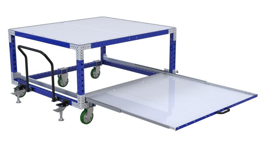 Extendable Shelf Cart - 1680 x 1890 mm