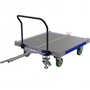 Flat Deck Tugger Cart - 49 x 49 Inch