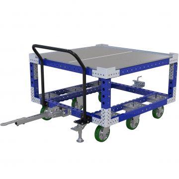 Carro remolcador de dos niveles - 50x50 pulgadas