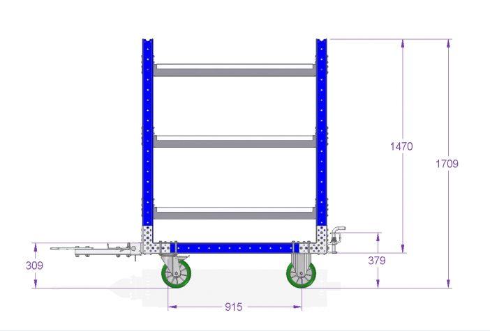 Flow Shelf Cart 1260 x 770 mm