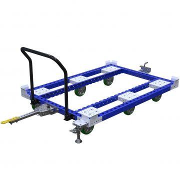 Custom designed base cart for a stackable rack.