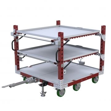 Extendable shelf cart for B Frame