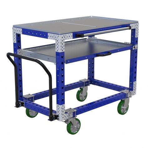 Custom extendable shelf cart