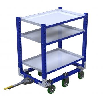 Tugger shelf cart