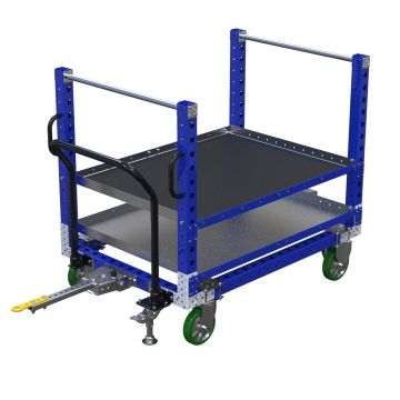 Customer tugger cart by FlexQube