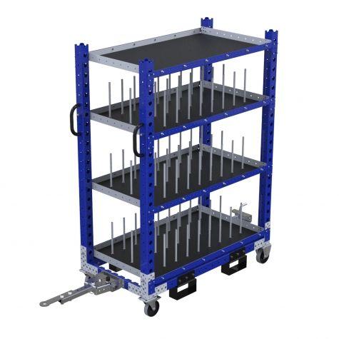 Custom flat shelf cart