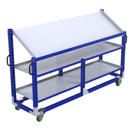 Custom long shelf cart