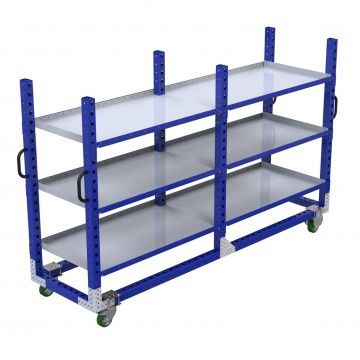 Long flat shelf cart
