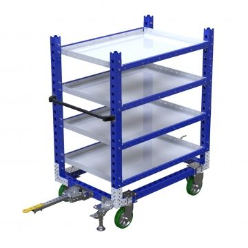 Tugger flat shelf cart