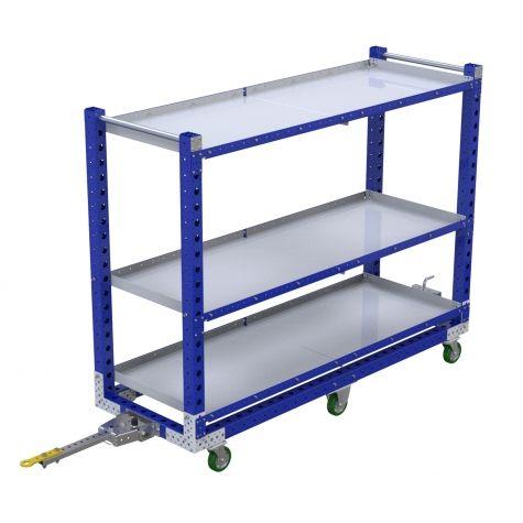 Flat Shelf Tugger Cart - 700 x 2030 mm