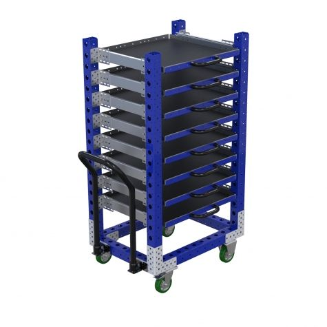 Extendable Shelf Cart - 630 x 840 mm