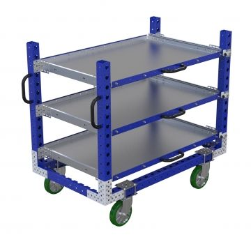 Flat shelf cart